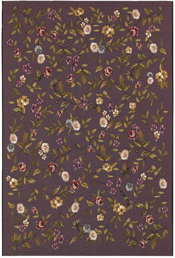 "Couristan Couristan Indoor/Outdoor Runner Rug, Dolce 4087/2413 Gardenia Black-Multi 2'3"" x 7'10"""