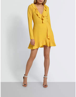 Missguided Ruffled fit-and-flare crepe mini dress