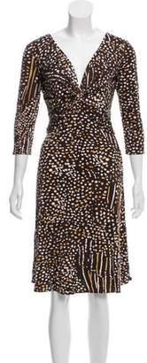 Issa Silk Midi Printed Dress