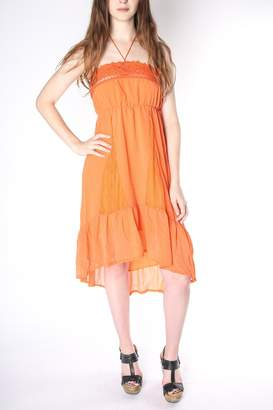 Flying Tomato Flowy Orange Dress