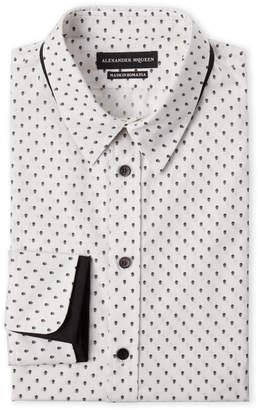 Alexander McQueen White Skull Print Dress Shirt