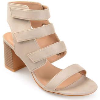 Journee Collection Womens Perkin Pumps Zip Open Toe Stacked Heel
