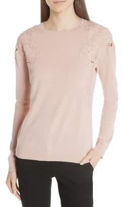 Ted Baker Yizelda Lace Shoulder Sweater