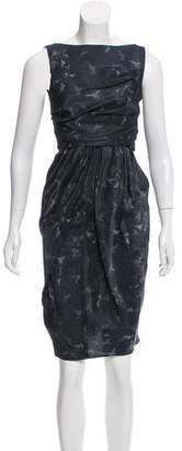 David Szeto Printed Silk Dress