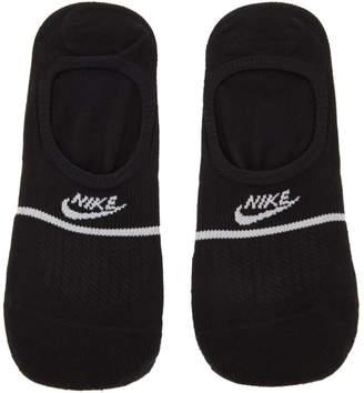 Nike Two-Pack Black SNKR Sox No Show Socks