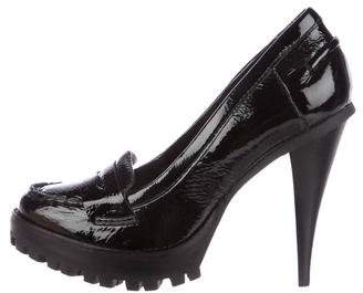 KORS Patent Platform Loafer Pumps