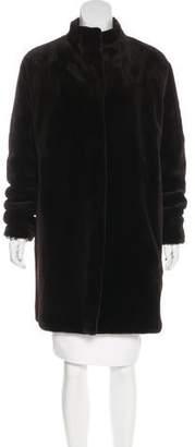 Oscar de la Renta Sheared Mink Reversible Coat