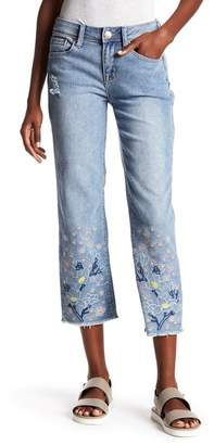Seven7 Embroidered Straight Ankle Jeans