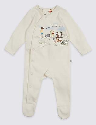 Marks and Spencer Winnie the Pooh & FriendsTM Unisex Sleepsuit