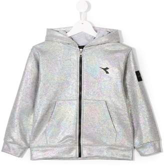 Diadora Junior iridescent zipped hoodie