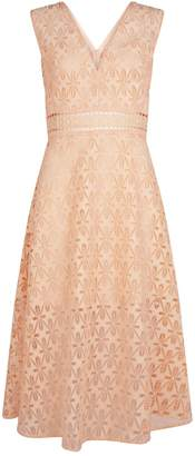Sandro Guipure Lace Midi Dress