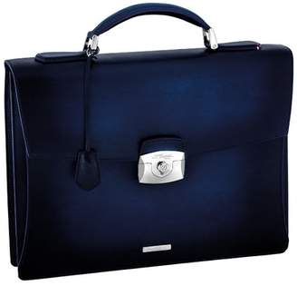 S.t. Dupont One Gusset Briefcase Leather