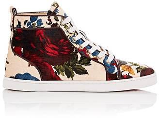 Christian Louboutin Women's Bip Bip Woman Orlato Flat Velvet Sneakers $995 thestylecure.com