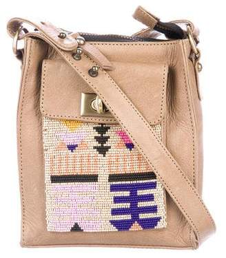 Lizzie Fortunato Beaded Leather Crossbody Bag