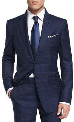 TOM FORD O'Connor Base Plaid Two-Piece Suit, Navy $4,590 thestylecure.com