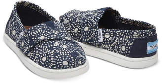Toms (トムス) - Toms 【kids】navy Shibori Dots Canvas Tiny Classics(C)Fdb