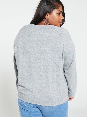 Levi's Plus Relaxed Graphic Crew Sweatshirt - Grey