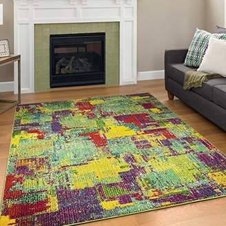 "Camilla And Marc A2Z Rug Modern Colourful Contemporary Design Area Rugs Rio Collection 5710, Multi 200x290 cm - 6'6""x9.5"" ft"
