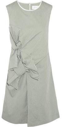 Victoria Beckham Victoria Bow-Embellished Pinstriped Cotton Dress