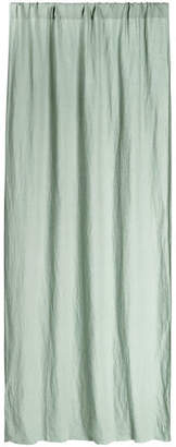 H&M Washed Linen Curtain Panel - Green