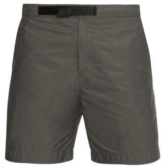 Prada Nylon Swim Shorts - Mens - Grey