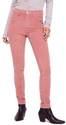 Free People Corduroy Skinny Jeans in Mauve