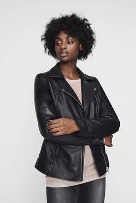 Long Tall Sally Leather Biker Jacket