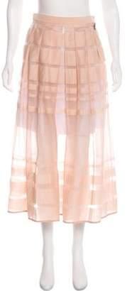 Tibi Pleated Midi Skirt w/ Tags