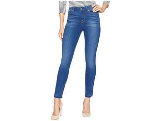 7 For All Mankind B(Air) High-Waisted Ankle Skinny w/ Released Side Hem Splits in Manhattan
