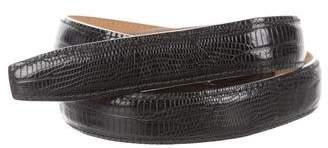 Norma Kamali Embossed Leather Waist Belt