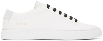 Common Projects Woman by White Canvas Achilles Low Sneakers