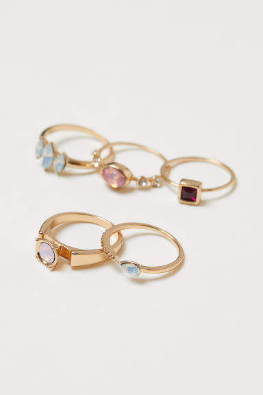 H&M - 5-pack Rings - Gold