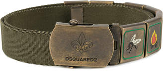 DSQUARED2 belt with scout motif hardware