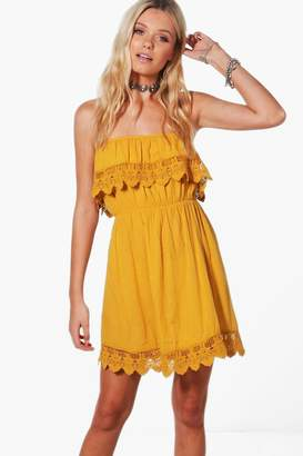 boohoo Crochet Trim Sundress