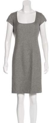 Ralph Lauren Black Label Wool & Cashmere-Blend Knee-Length Dress