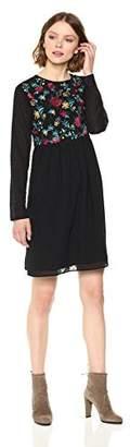 Ella Moon Women's Rosaline Long Sleeve Embroidered Dress