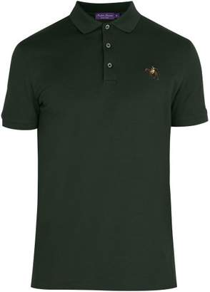 Ralph Lauren Purple Label Logo Embroidered Cotton Pique Polo Shirt - Mens - Green