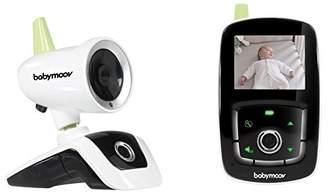 Babymoov Le babyphone vidéo en toute simplicité ! Portée : 300 m. Fonction VOX : activation a la voix. Boutons tactiles. Fonction talkie-walkie. Volume et luminosité de l'écran réglables. Indicateur de température. Mixte. Des la naissance. Vendu a l'unité