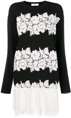 Valentino lace embellished dress