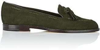 Manolo Blahnik Women's Erica Tassel-Accented Suede Loafers - Green Suede