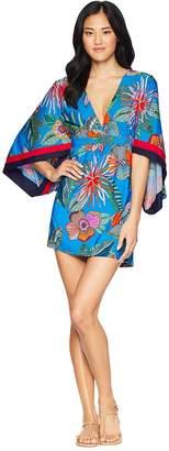 Trina Turk Tahiti Tropical Tunic Cover-Up Women's Swimwear