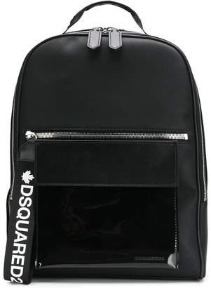 DSQUARED2 logo strap backpack
