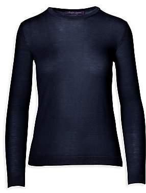 Ralph Lauren Women's Iconic Style Cashmere-Blend Crewneck Pullover