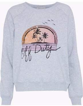 Rebecca Minkoff Printed Cotton-Blend Fleece Sweatshirt