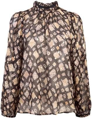 Ulla Johnson sheer band collar blouse