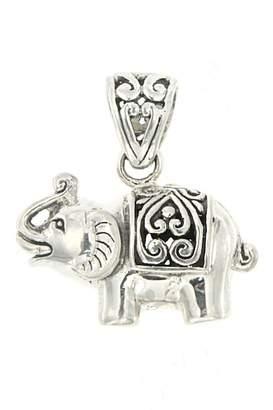 Samuel B Jewelry Sterling Silver & 18K Gold Elephant Pendant