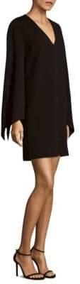 Tibi Crepe V-Neck Dress