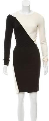 Alice + Olivia Colorblock Knee-Length Dress