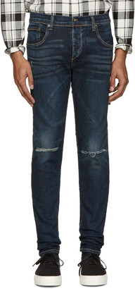 Rag & Bone Indigo Standard Issue Fit 1 Jeans $255 thestylecure.com