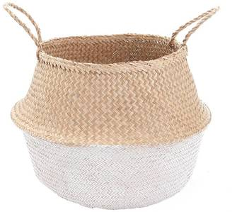 Large White Dipped Belly Basket
